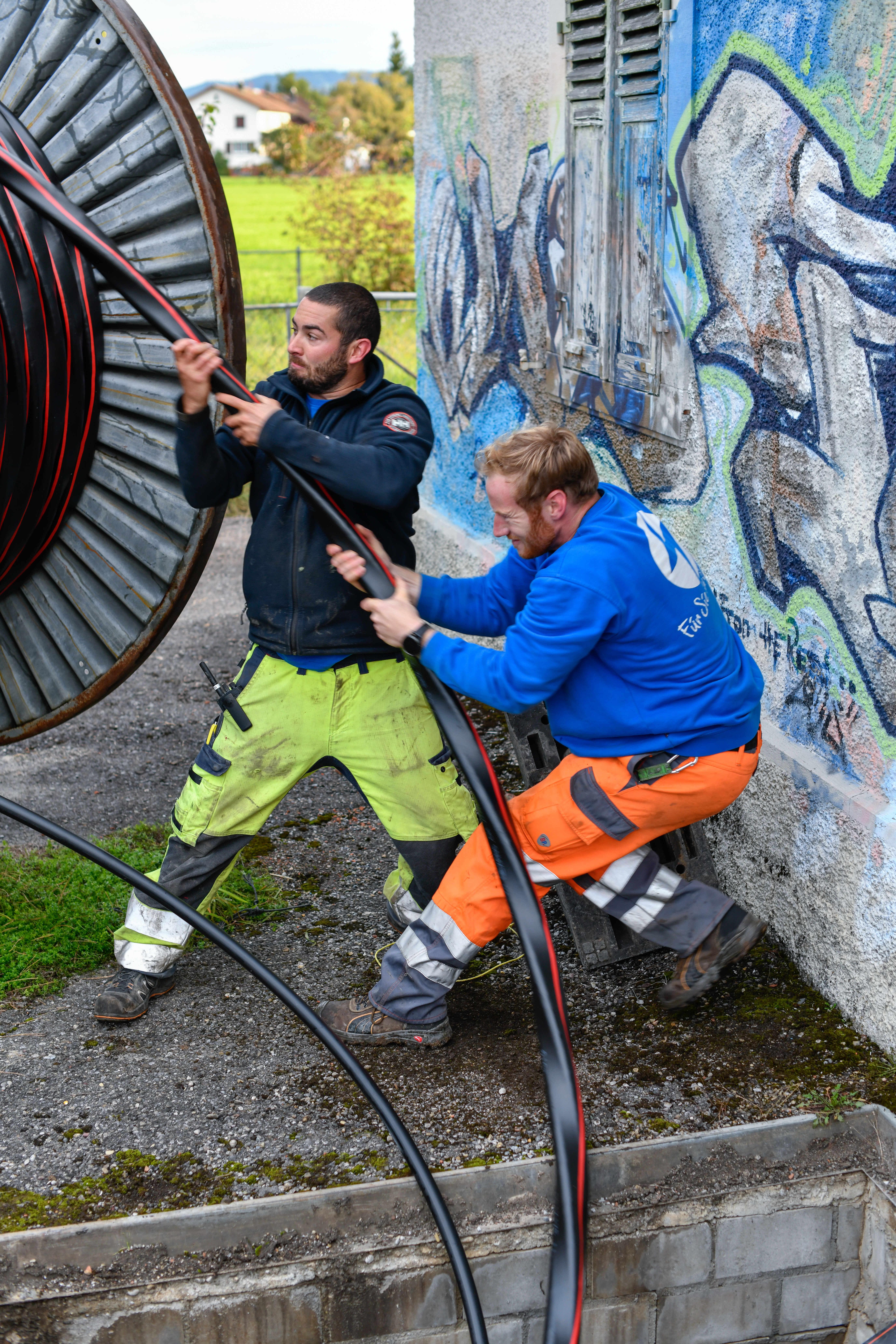 EWJR Kabelzug Betrieb und Unterhalt